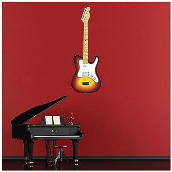 azutura Guitarra eléctrica Estilo Telecaster Vinilos Disponible en 8 Tamaños Mediano Digital: Amazon.es: Hogar