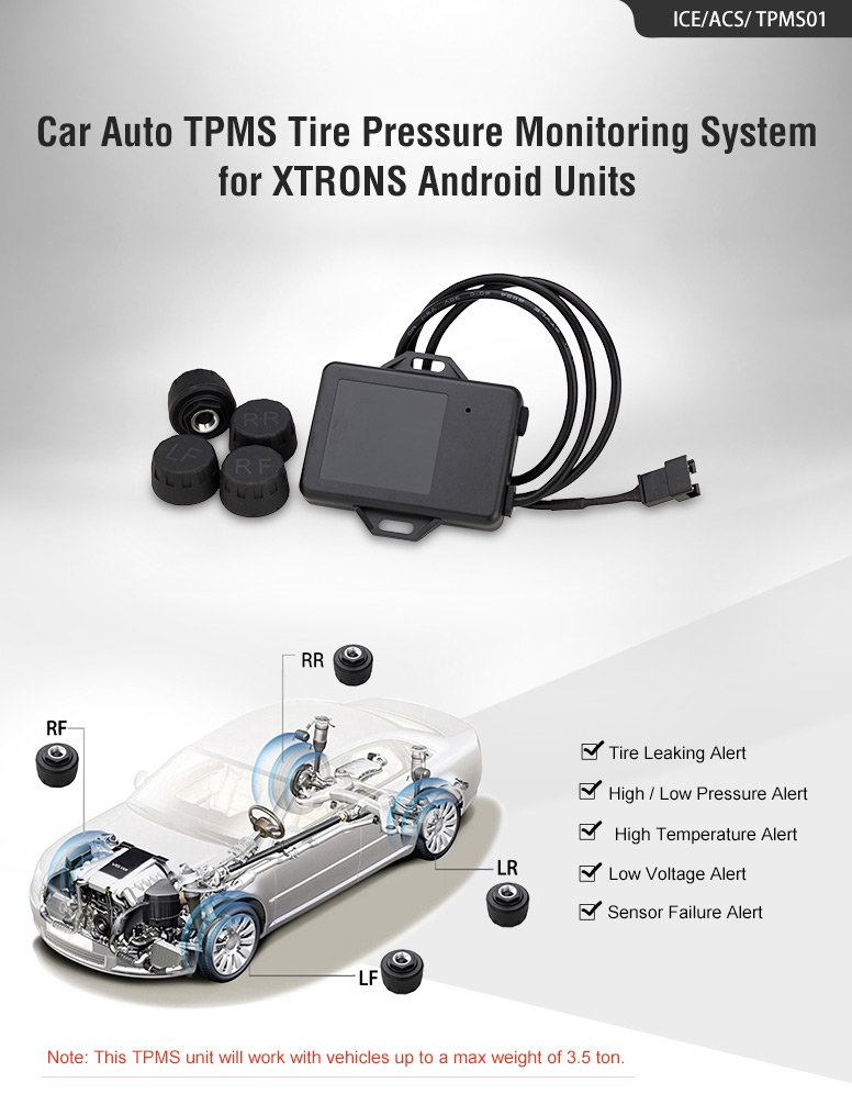 Amazon Com Xtrons Car Auto Tpms Tire Pressure Monitoring System