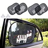 Biubee 4 Packs Car Window Sun Shade for Baby -19.7' x 15' with 2 Extra Suction Cups Safety Car Window Blinds and Sheild, Protect Baby & Infants from Sun, Glare and UV Rays