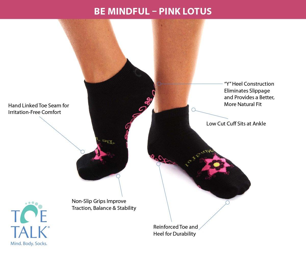 Toe Talk BE Mindful Womens Non Slip Grip Socks for Pilates Yoga /& Mindful Practice