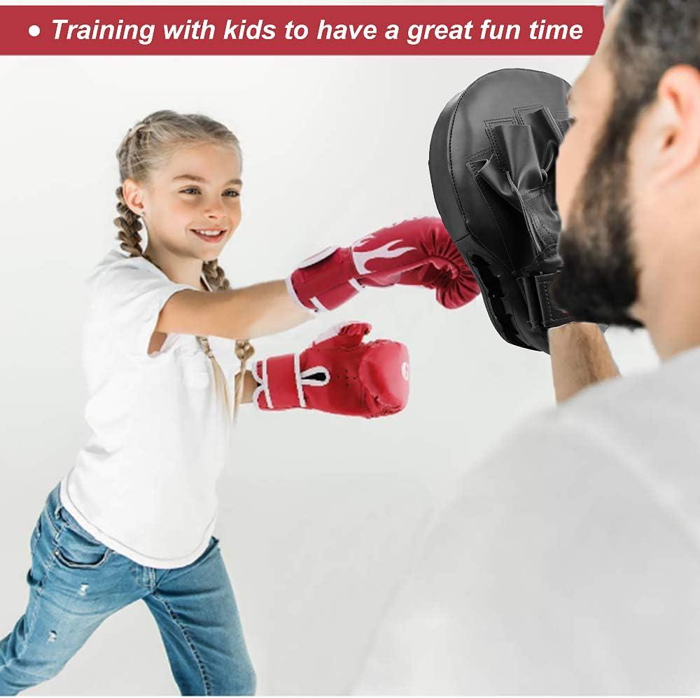 AUPCON Patas de Oso para Boxeo Boxeo Karate Kicking Pad Entrenamiento Boxeo Objetivo Cuero de PU Muay Thai MMA Arte marcial Kickboxing Ponche Patada Escudo Entrenamiento Taekwondo Kick Pads