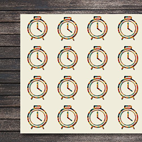 Clock Hour Watch Timer Time Craft Stickers, 44 Stickers at 1.5 Inches, Great Shapes for Scrapbook, Party, Seals, DIY Projects, Item 290469