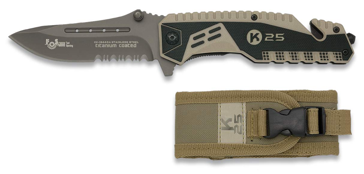 Amazon.com : Pocket Faxed Blade knife K25 butterfly 10 cm ...