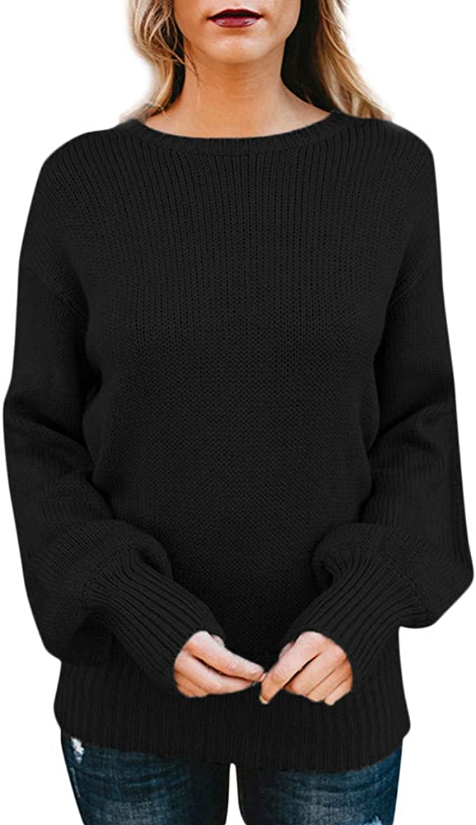 New Woman Ladies Knitted Pockets Long Sleeves Jumper Sweater Top 8-14