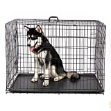 DaYiYang Folding Pet Cage Collapsible Dog Crate Double-Door With ABS Tray Easy Install ( Size : M ) DaYiYang