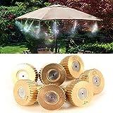 5pcs 3/16 Inch Brass Atomization Spray Nozzles Garden Cooling Misting Sprinkler (0.2mm)
