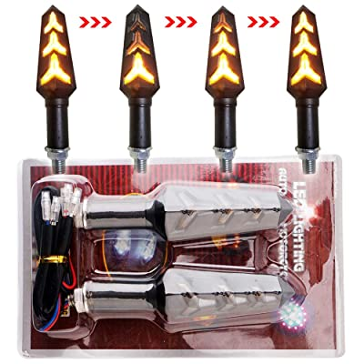 EverBrightt 3014 Chipset LED Bulbs Motorcycle Motorbike Turn Signal Light Front Rear Cornering Lamp Daytime Running Light DC 12V Yellow Pack of 2: Automotive