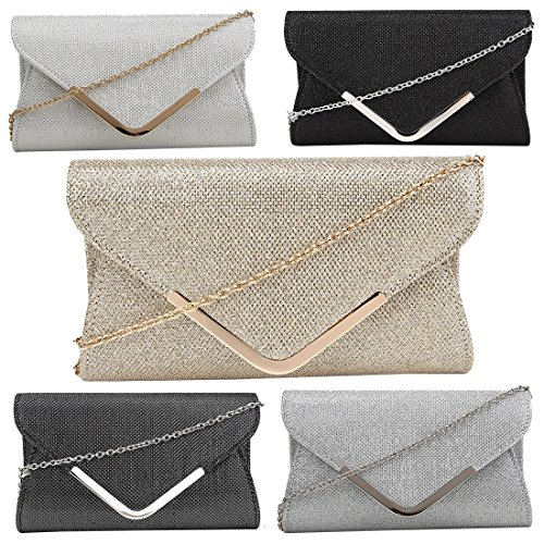 Kukubird Clutch Envelope Kukubird With Dust Glitter Faux Bag Snakeskin Holographic Pewter Bag wCwqRSx