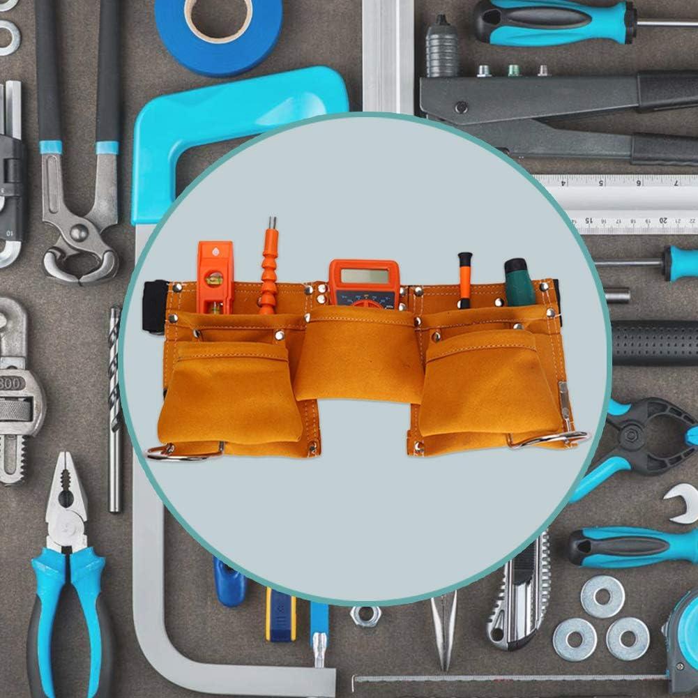 jeux de r/ôle. Cuir de vachette multi-usages pour enfants Ceinture r/églable Outil de poche pour bonbons Tablier pour d/éguisements orange