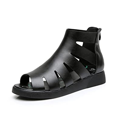 e91f73fcbf2 Women sandals Fashion plus size womens shoes Roman fish cool boots The  Korean version of flat female sandals-A Foot length 25.8CM(10.2Inch)   Amazon.co.uk  ...