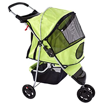 Amazon.com : Green Pampered Pet Jogging Stroller for Small Dogs ...