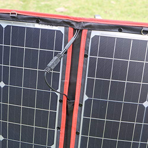 DOKIO 100 Watts 12 Volts Monocrystalline Foldable Solar Panel with Charge Controller by DOKIO (Image #8)