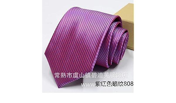 LBBJJ Corbata de Moda clásica Corbata Corbata de Color sólido de 8 ...