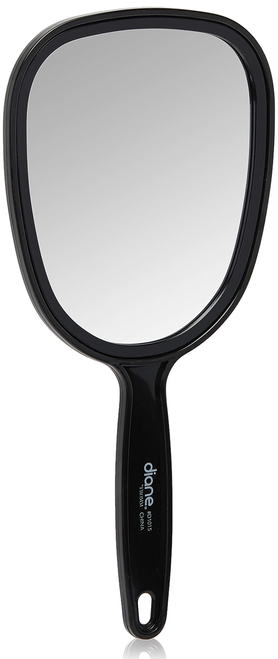 """Diane Plastic Handheld Mirror – Vanity Oval Mirror with Hanging Hole in Handle – Small Size (5"""" x 11"""") for Travel, Bathroom, Desk, Makeup, Beauty, Grooming, Shaving, D1015"""