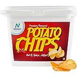 Neelam Foodland Box Pack Premium Flavoured Hot & Spicy Potato Chips, 200g
