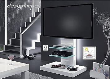 Fernsehtisch H 444 Weiß Hochglanz Tv Schrank Tv Möbel Tv Rack Lcd