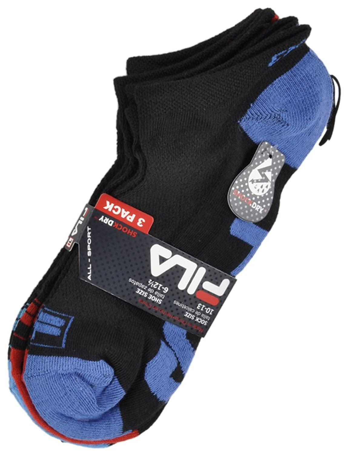 Fila Ankle Socks All-Sport Shock Dry 3-Pack in Black at Amazon Mens Clothing store: