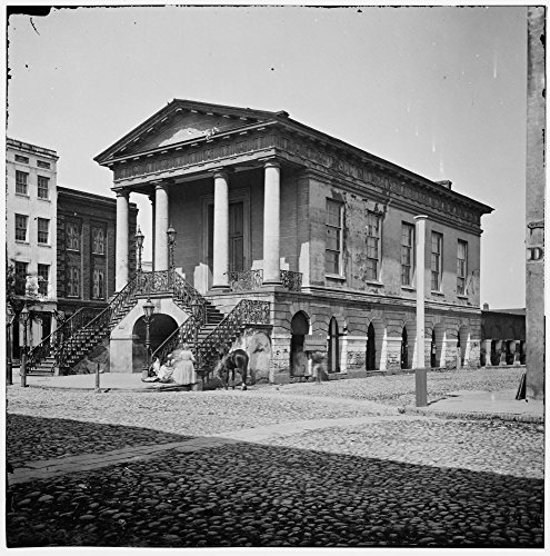 1865 Photo Charleston, S.C. The old Market House (188 Meeting Street) Photographs of the Federal Navy, and seaborne expeditions against the Atlantic Coast of the Confederacy, specifically of - Sc Charleston Market The