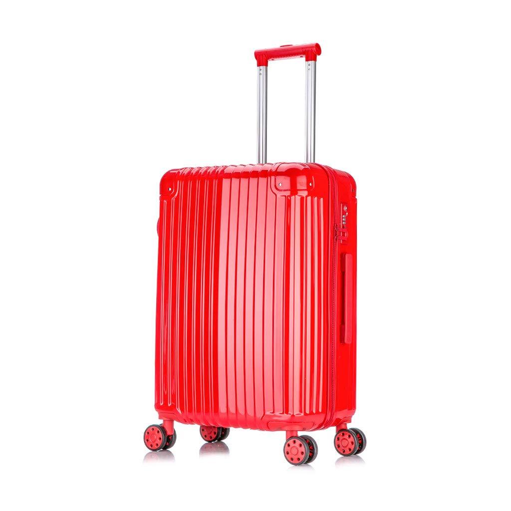 ABSハードシェル軽量キャリー荷物スーツケース内蔵TSA公認3桁コンビネーションロック、4輪、23 * 37 * 59 cm B07MRJ4Z6Q red