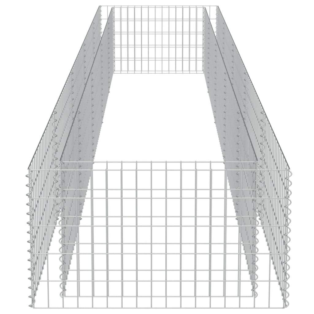 FAMIROSA Gabbione Fioriera in Acciaio Zincato 450x90x50 cm