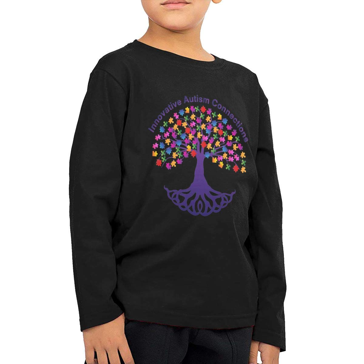 Autism Tree Art Fashion Toddler Kid Baby Boys Girls Long Sleeve T Shirts Clothing