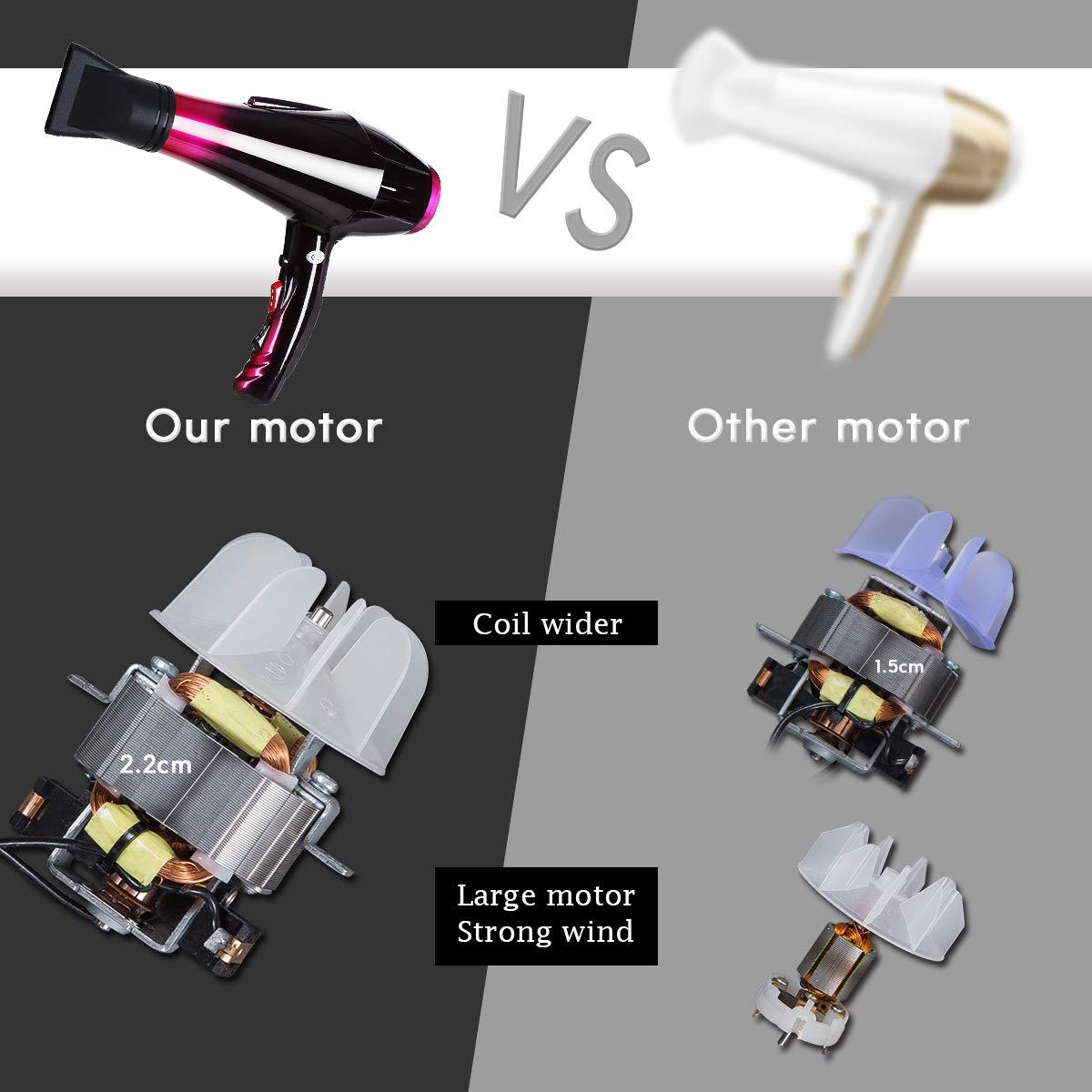 F/öhn Haartrockner 3500 watt Haarf/ön mit 2 Geschwindigkeiten und 3 Hitzeeinstellungen Ionisch-keramischer Profi-F/ön mit IonTec und Diffusor