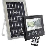 LEDBOX Foco LED Solar para Exterior 25w con Mando a Distancia para regular la intensidad de luz. Proyector LED SOLAR DIGIT de 25W, Blanco frío 6000K Regulable con Sensor Crepuscular DLR.