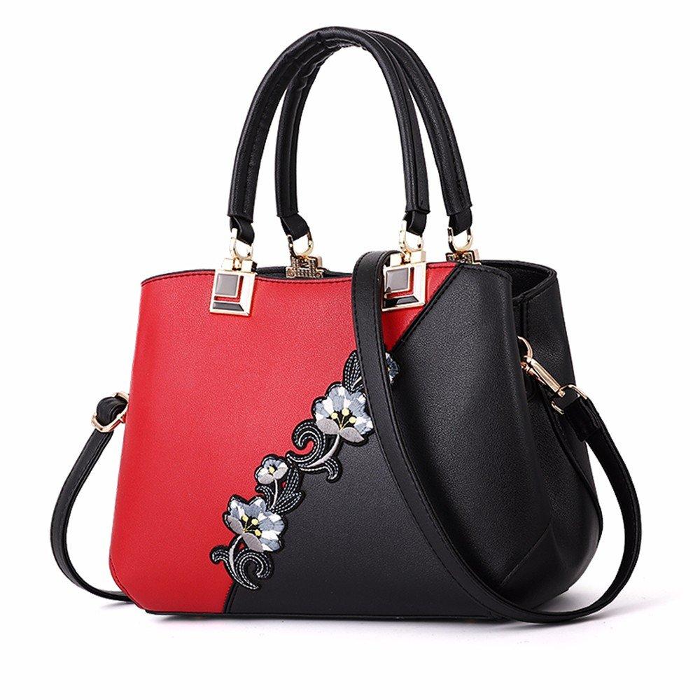 GQFGYYL die modischen Handtasche hat die Farbe Farbe Farbe von der Hand und Schulter umhängetasche,Rot - rot,A B07GKT89QN Henkeltaschen König der Menge d19a9c