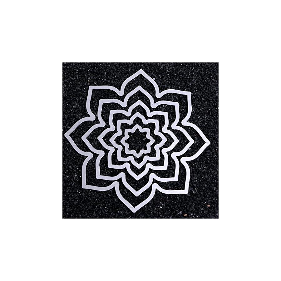SCASTOE Petals Cutting Dies Stencil DIY Paper Craft Card Making Scrapbooking Album