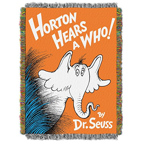 "Dr. Suess, Horton Hears a Who Woven Tapestry Throw Blanket, 48"" x 60"""