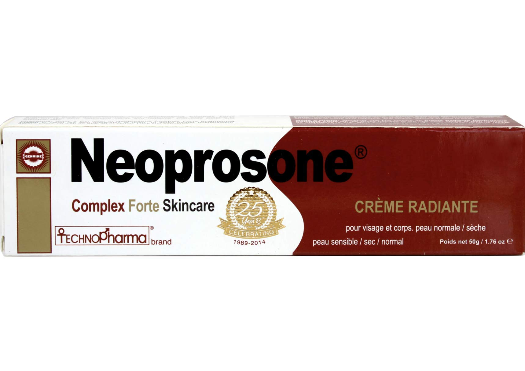Neoprosone Cream 50g - Formulated to Fade Dark Spots, with Alpha Arbutin Complex