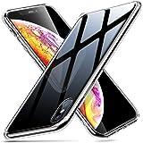 ESR Hülle für iPhone X - Hartglas Handyhülle mit Weichem TPU Rahmen - Handy Schutzhülle für iPhone X (5,8 Zoll) - Schwarz