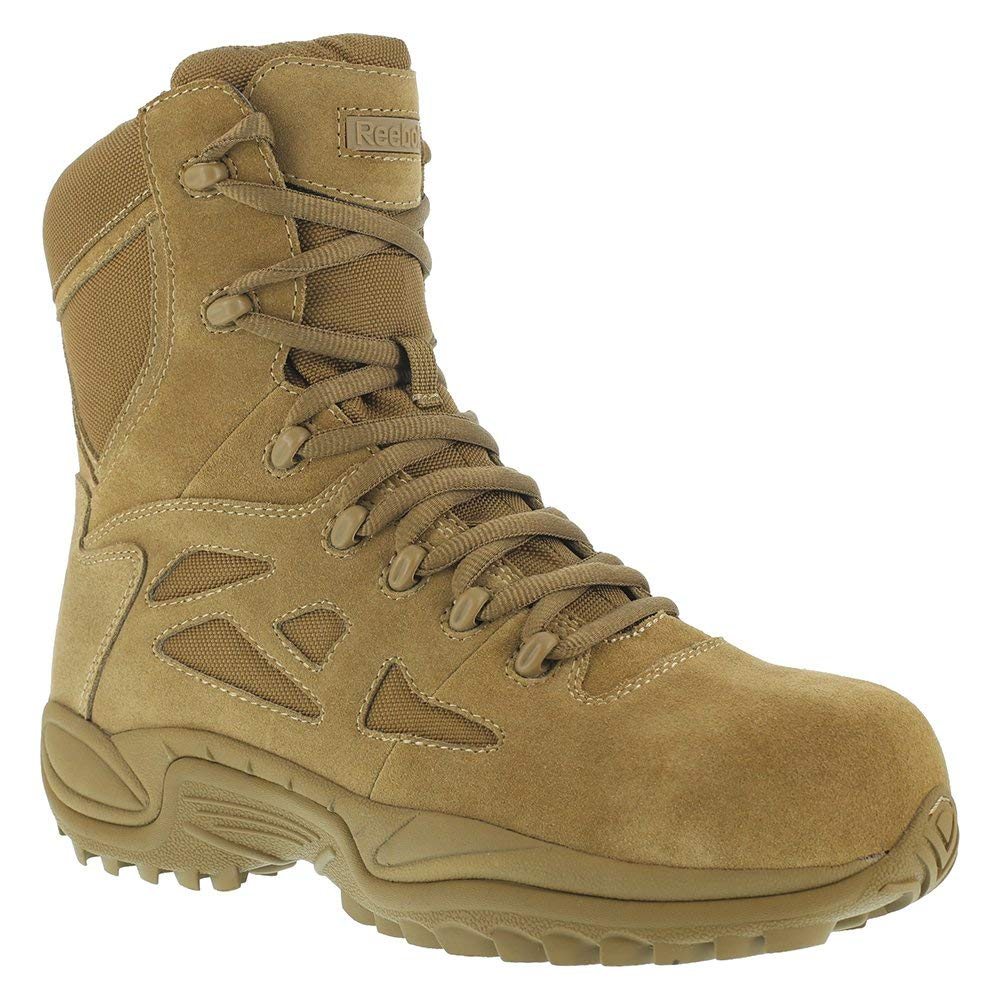 Reebok Womens Coyote Leather Tactical Boots Rapid Response LaceUp CT Reebok Work
