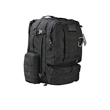 16d8a6d3ecc Kombat Unisex Outdoor Viking Patrol Pack Backpack available in Black - 60  Litres