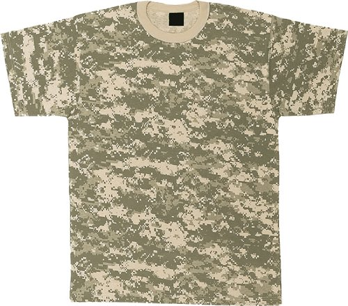 ACU Digital Camouflage Military T-Shirt (Polyester/Cotton) Size 4X-Large Acu Digital Camouflage T-shirt