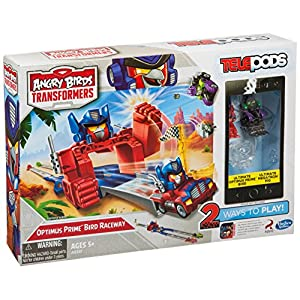 Angry Birds Transformers Telepods Optimus Prime Bird Raceway - 61go7WG52DL - Angry Birds Transformers Telepods Optimus Prime Bird Raceway
