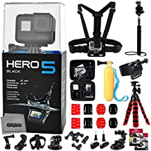 GoPro HERO5 Hero 5 Black Edition with 64GB Micro SD Card & Diving Mask & Basic Swimming & Diving Bundle