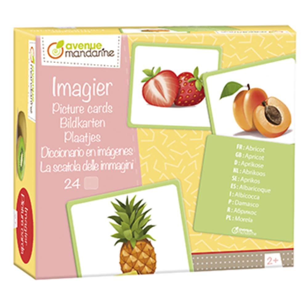 Avenue Mandarine Imagier, Fruits, JE509C, Multicouleurs Clairefontaine