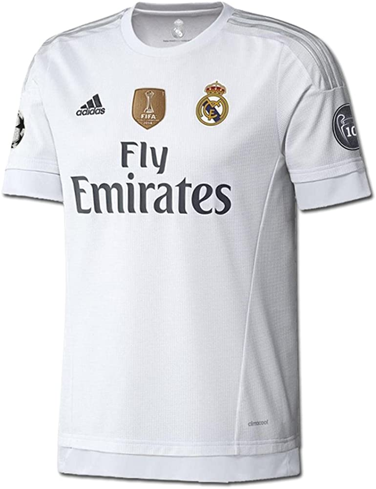 Arena técnico actividad  Amazon.com : adidas Youth Real Madrid 15/16 Champions Home White/Clear  Grey/Onix Jersey : Clothing
