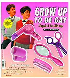 Blue Q Grow Up To Be Gay Magnet Set