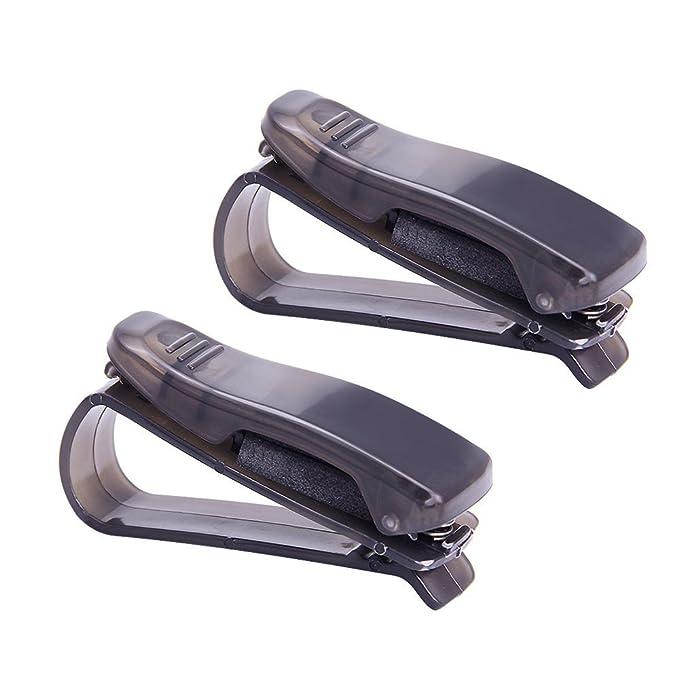 Soporte para gafas de sol con clip para visera de coche, 2 ...