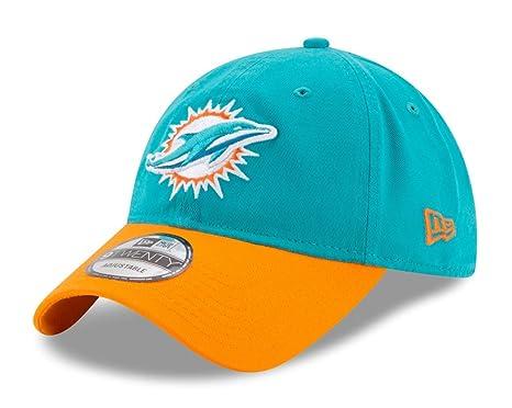 wholesale dealer 9e772 30dc9 Image Unavailable. Image not available for. Color  Miami Dolphins New Era  NFL 9Twenty  quot Twill Core Classic quot  Adjustable Hat