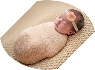Costume Newborn Photo Cloths Stretch Knit Wrap Baby Blanket Photography Props