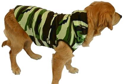 8f91d0a247 Green Camouflage Fleece Hoodie Sweatshirt Pajamas for Dog   Cats with Hoodie  ...