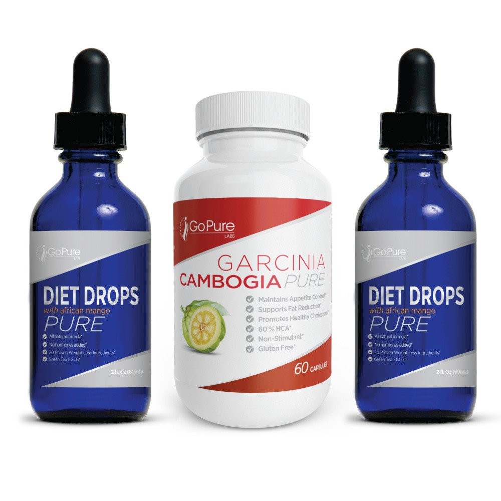 Go Pure Labs - Bundle - Buy 2 Transformation Diet Drops get a Free Garcinia by Go Pure Labs