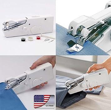 armyshop cantante portátil de punto de coser máquina de coser de mano rápida inalámbrico para reparaciones: Amazon.es: Juguetes y juegos