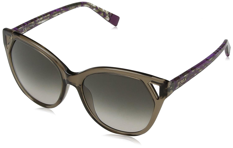Furla Eyewear Mujer N/A Gafas de sol, Marrón (Shiny Transpn), 55