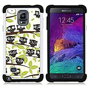 For Samsung Galaxy Note 4 SM-N910 N910 - forest trees pattern drawing cute Dual Layer caso de Shell HUELGA Impacto pata de cabra con im??genes gr??ficas Steam - Funny Shop -