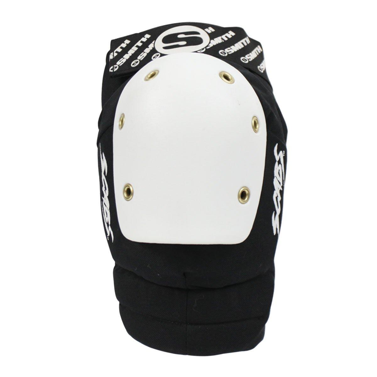 Smith Safety Gear Elite Knee Pads, Black/White, Small/Medium