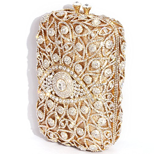 Evening Shape Clutch Silver Gold Women Digabi Crystal Cylindrical Bags 1gq75wnI
